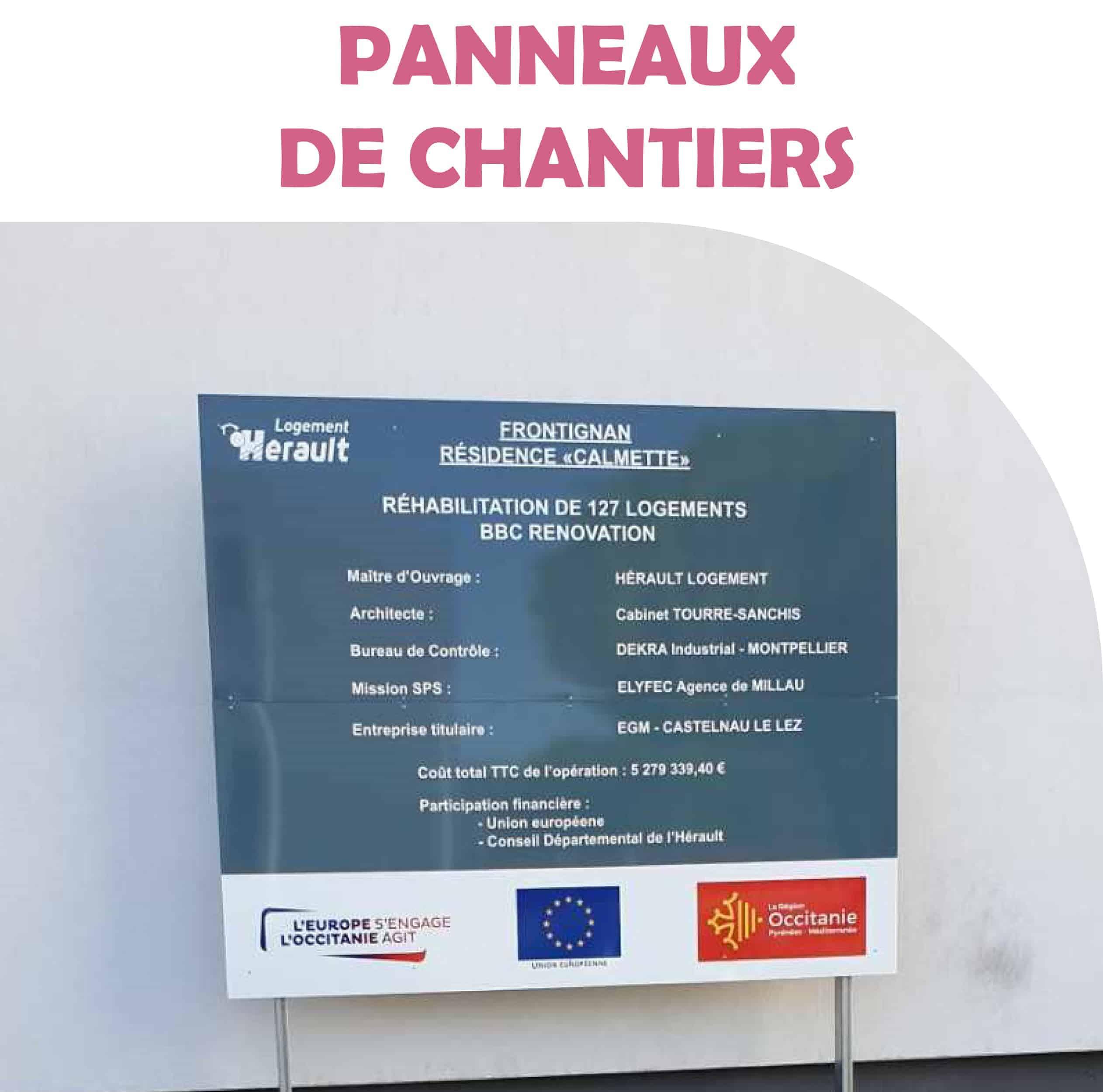 PANNEAUX DE CHANTIERS