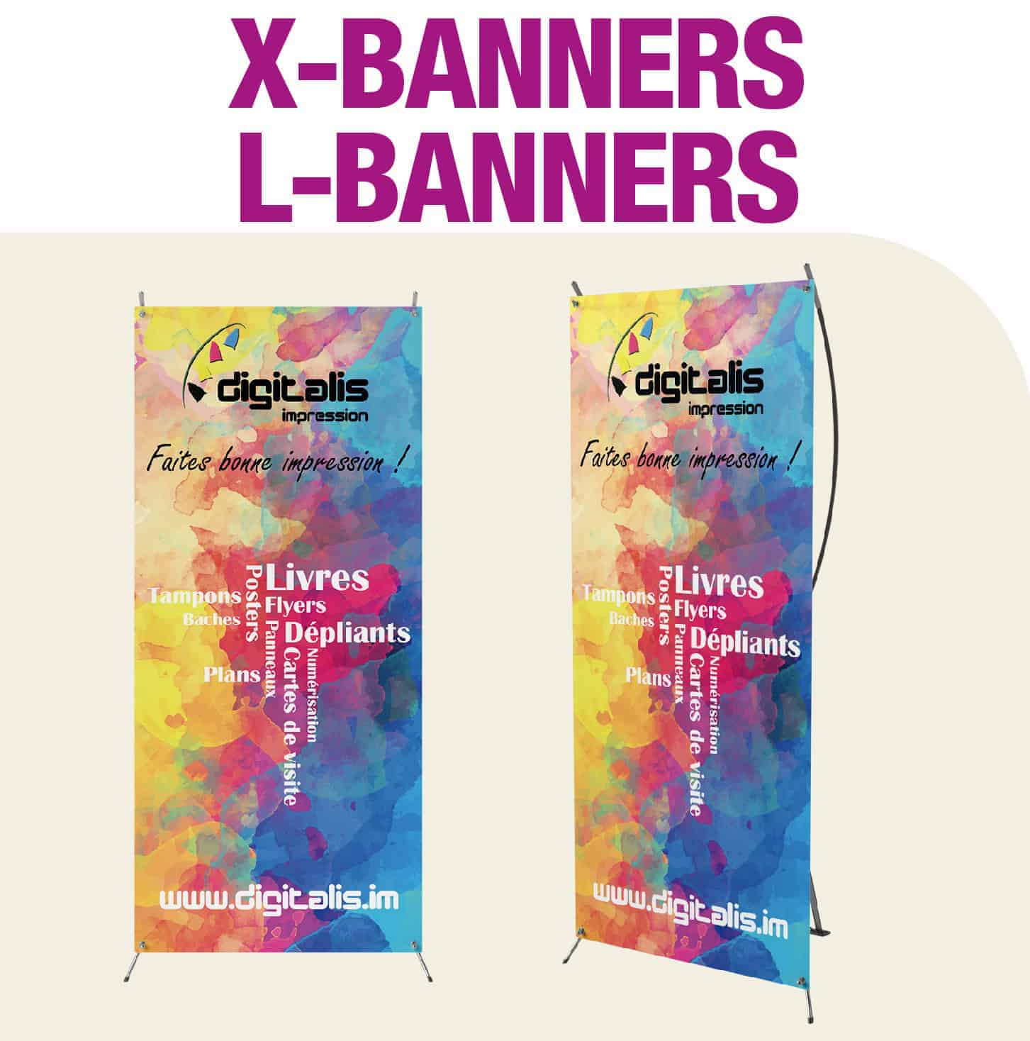 X BANNERS / L BANNERS